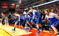 Isaiah Zierden and Creighton bench celebrates