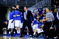 Greg McDermott and the Creighton Bluejays bench